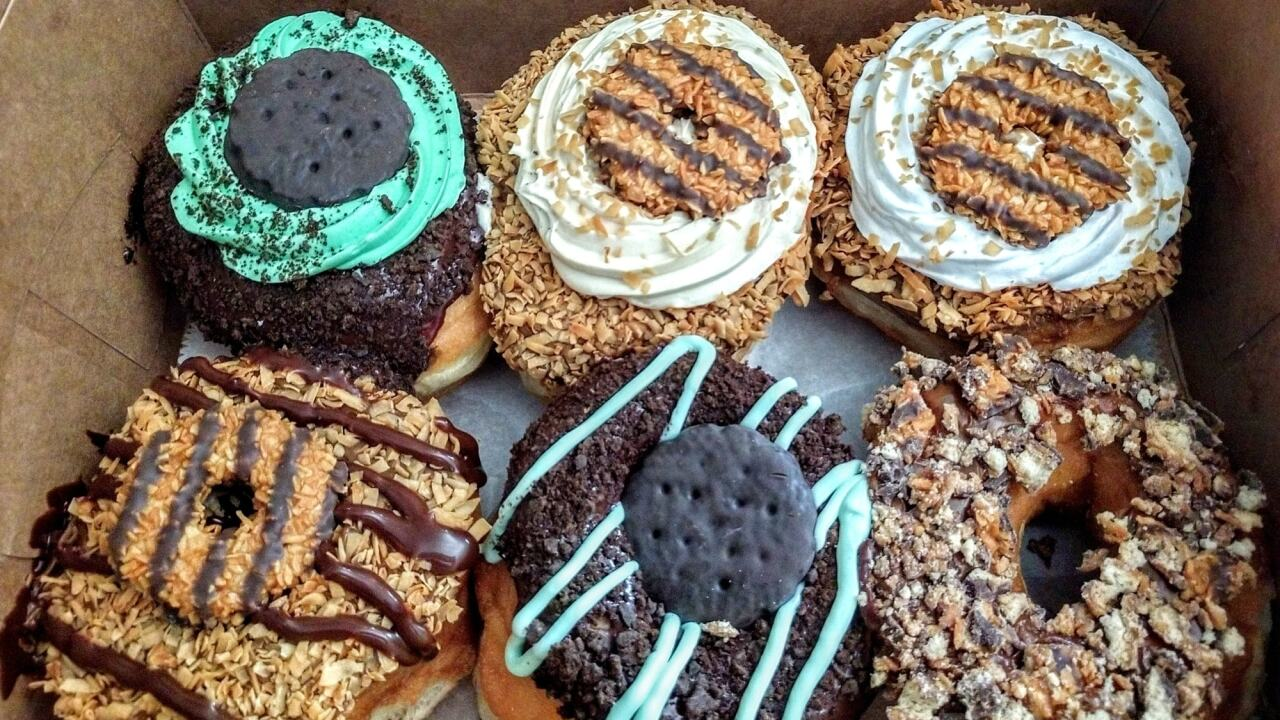 Paula's Donuts wants your input on their new Girl Scout cookie flavor donuts