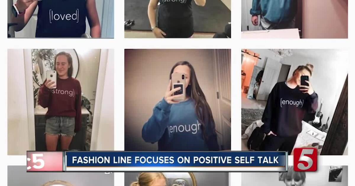 My sister started a clothing line that uses mirrors to promote positive self image in girls, and the local news did a story on it! So cool!