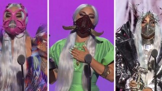Lady Gaga dominates at MTV VMAs with wins and mask fashion; The Weeknd wins top award