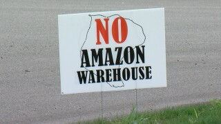 Group protesting potential of Amazon warehouse coming to Grand Island