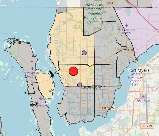 Lcec Power Outage Map Construction crane causes power outages in Cape Coral Monday