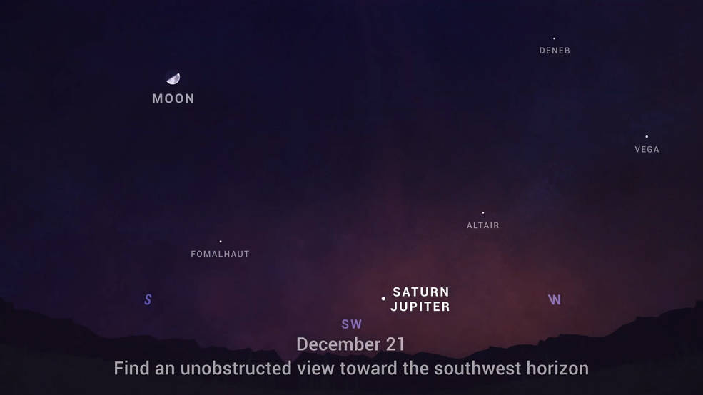 Jupiter and Saturn alignment to be visible from France