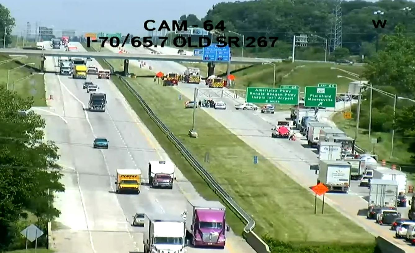 Two killed, eastbound lanes of I-70 closed after crash