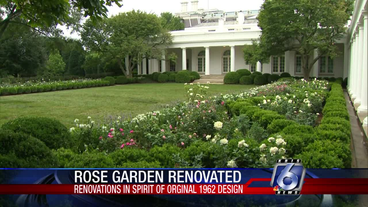 White House S Rose Garden Renovation Unveiled On Saturday