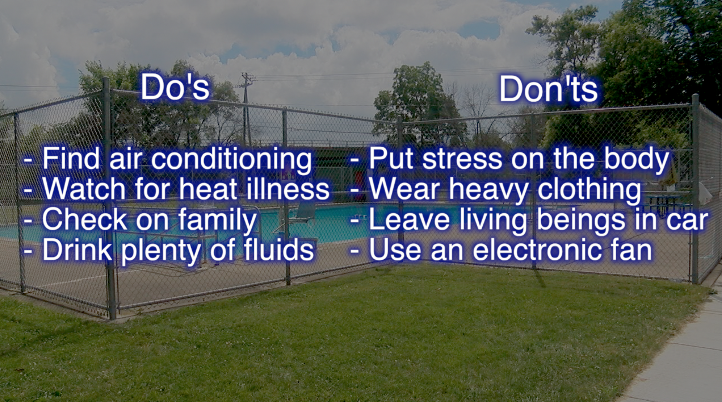 A Complete Guide To Handling The Heatwave Coming To Wny