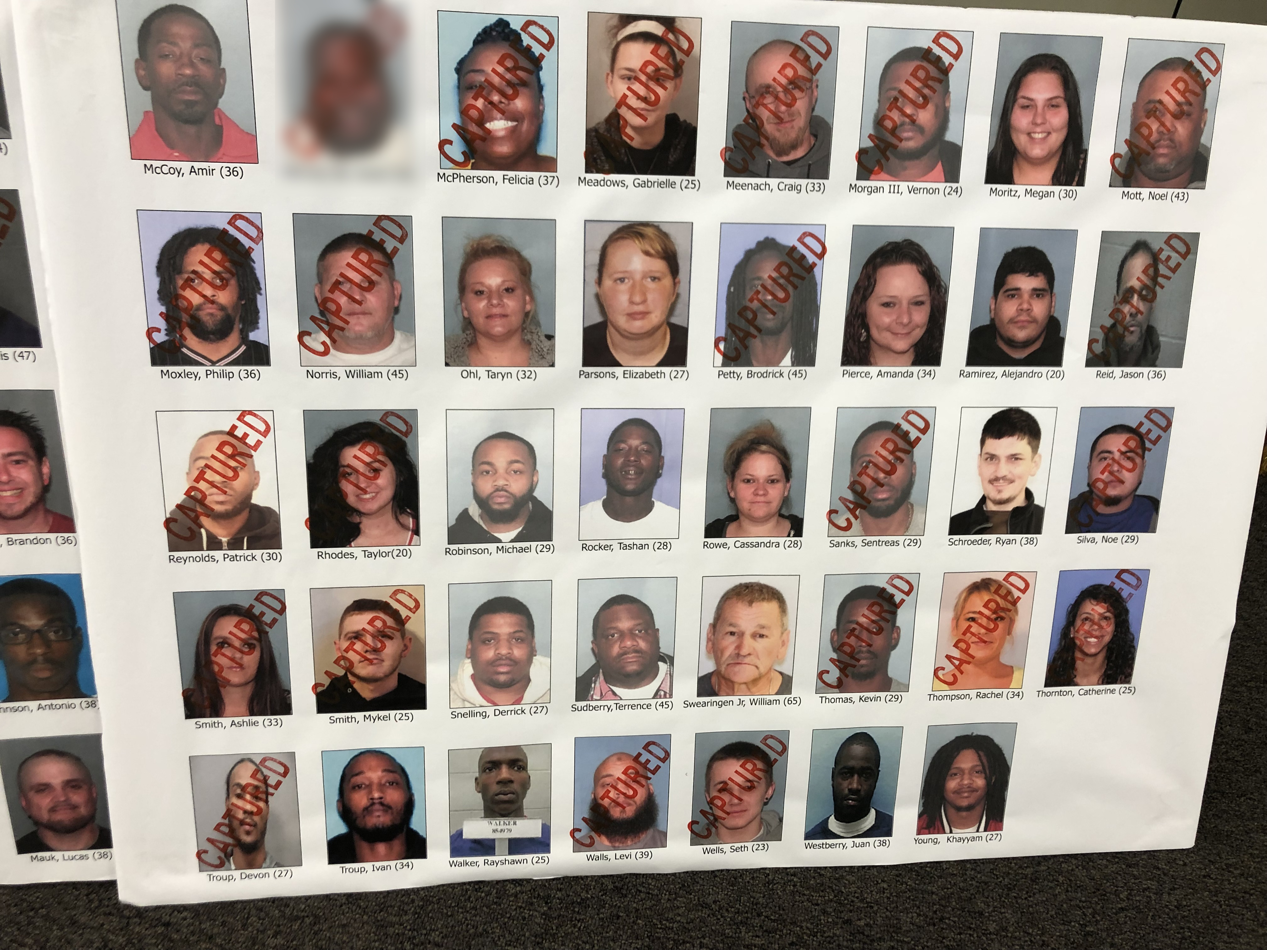 Officers arrest dozens of people in alleged drug trafficking