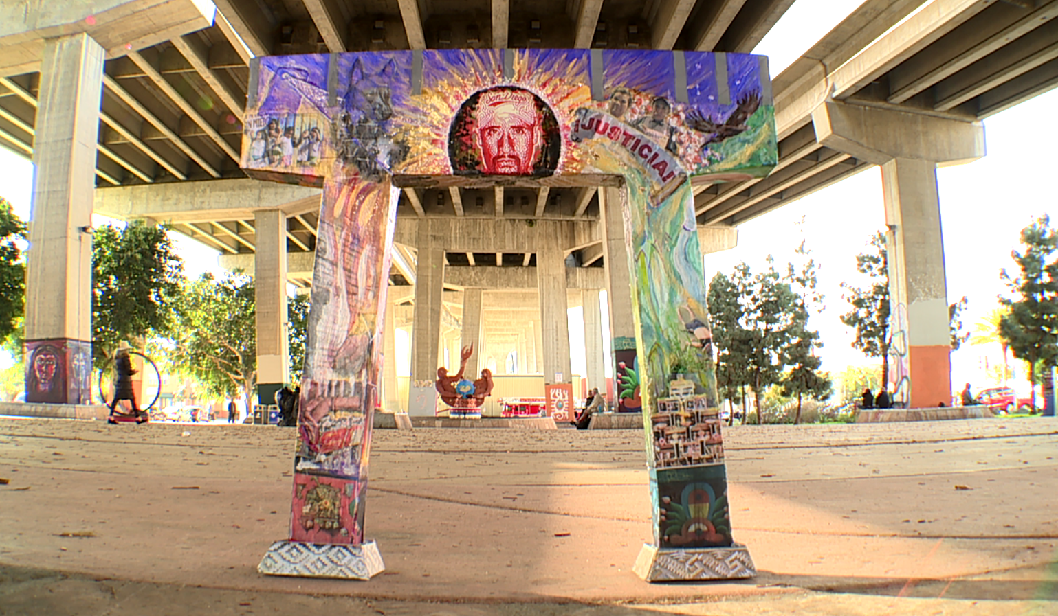 New Chicano Park Mural Depicts Immigration Crisis At Us Mexico Border