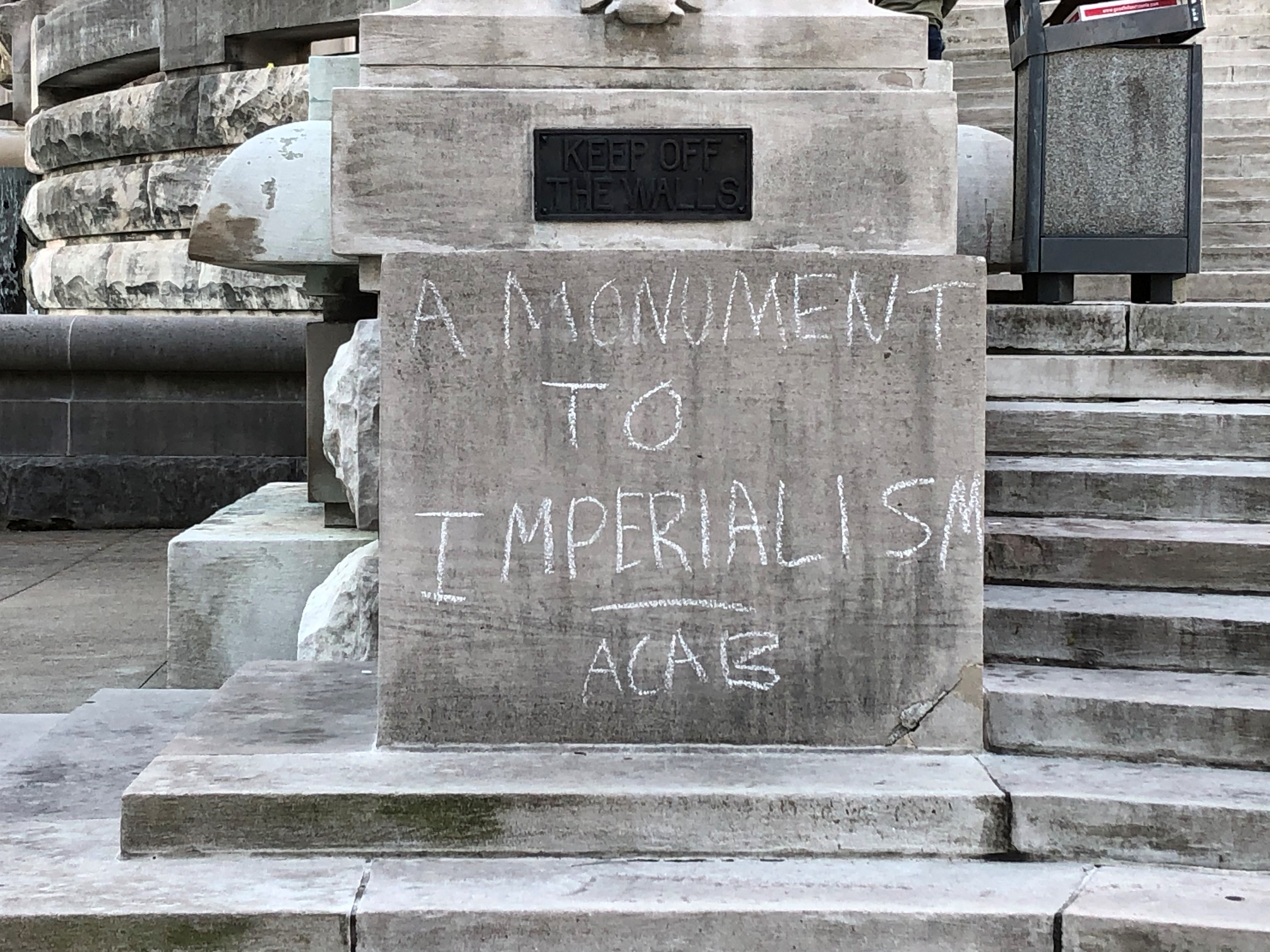 About 80 Of Indianapolis War Memorials Vandalized By Protesters