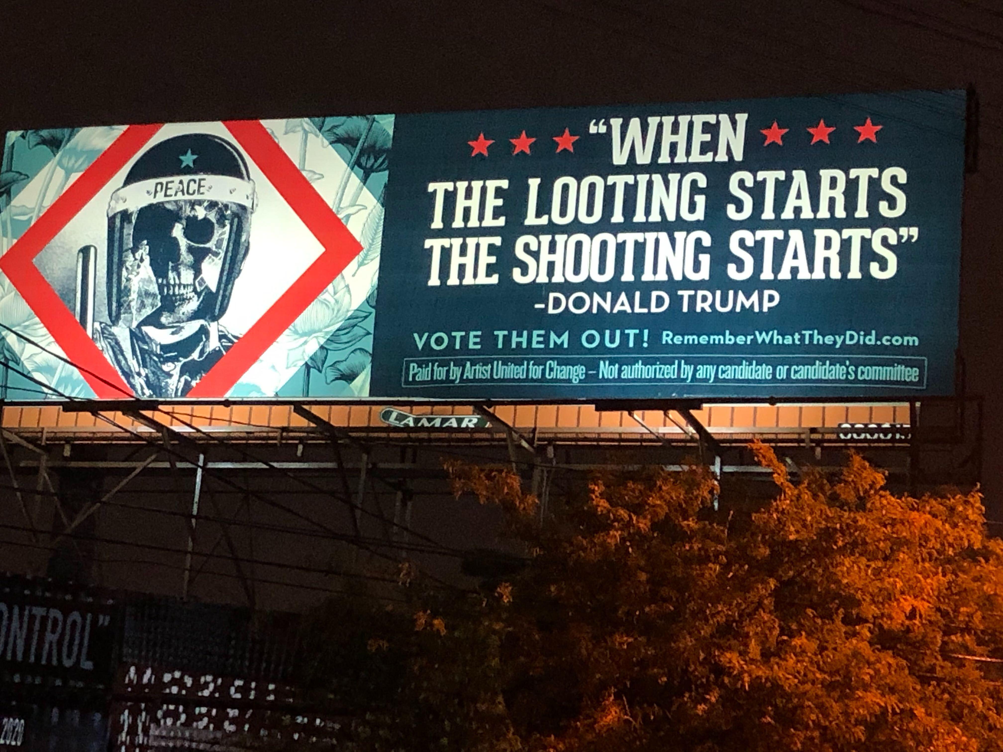 Artists Design Anti Trump Billboard Ahead Of Presidential Debate