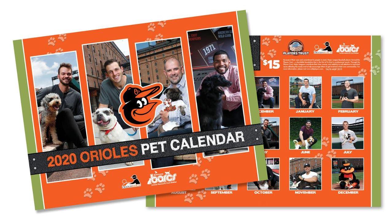 Barcs Calendar 2021 Signing 2020 Orioles Pet Calendar on sale now