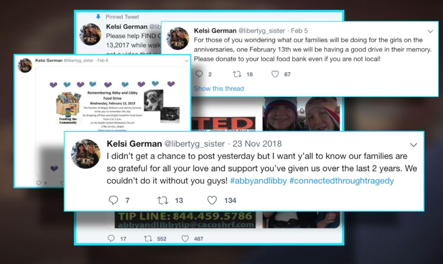 Kelsi's Mission: Sister of Delphi murder victim hopes Twitter will