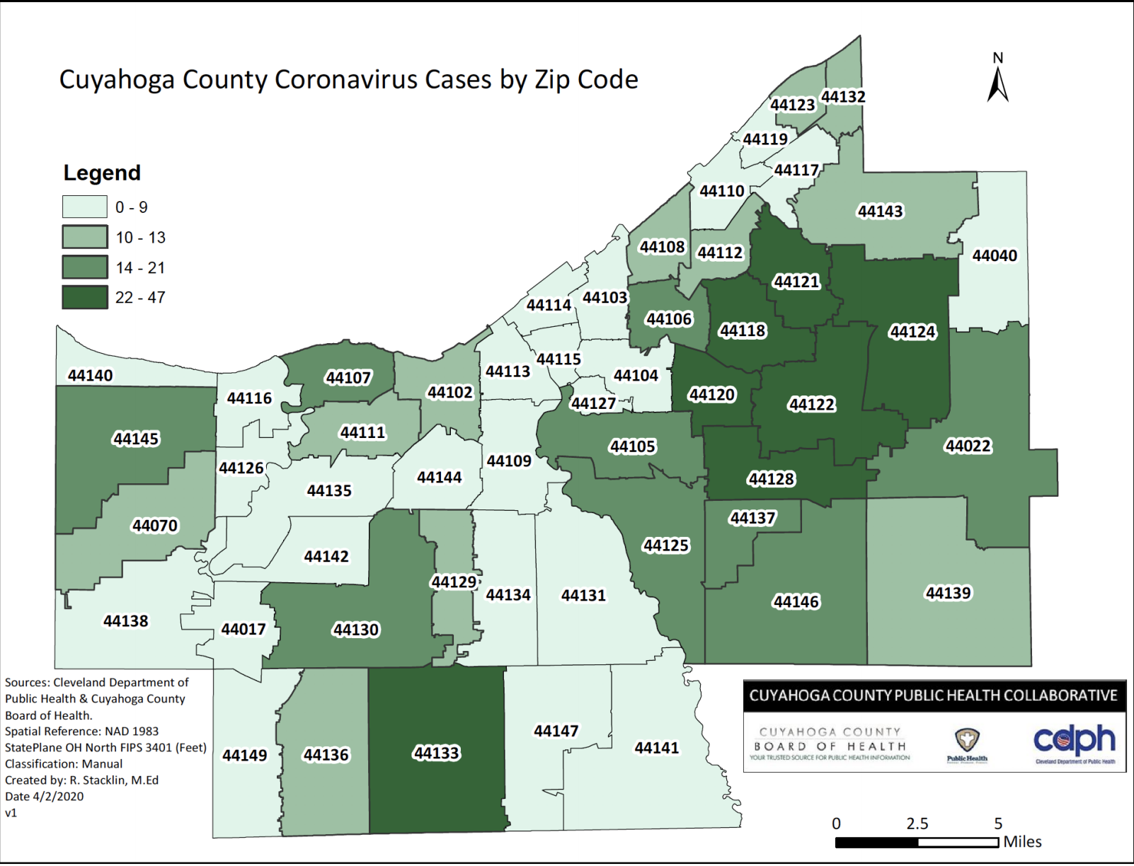 Image of: Map Cuyahoga County Releases Updated Map Showing Covid 19 Cases By Zip Code