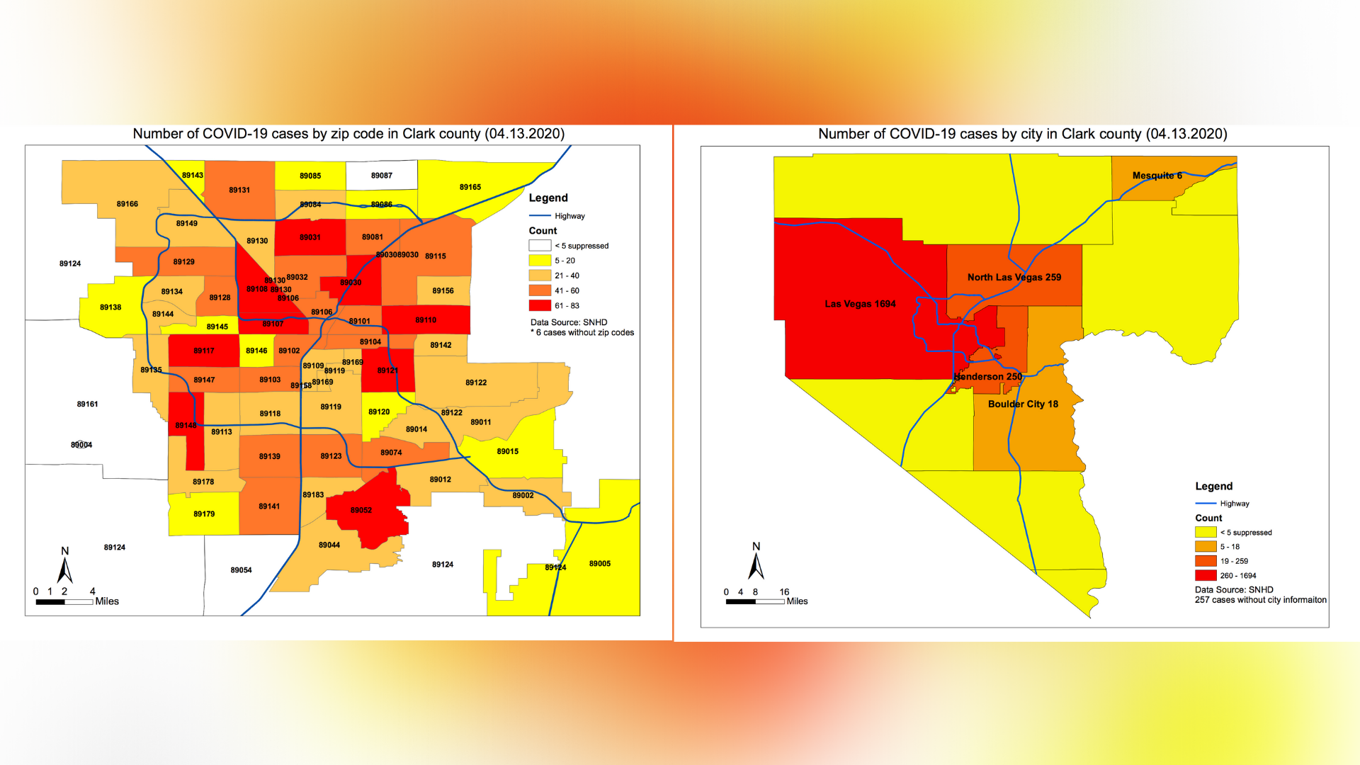 Southern Nevada Health District Shares City Zip Code Breakdown Of Covid 19 Cases