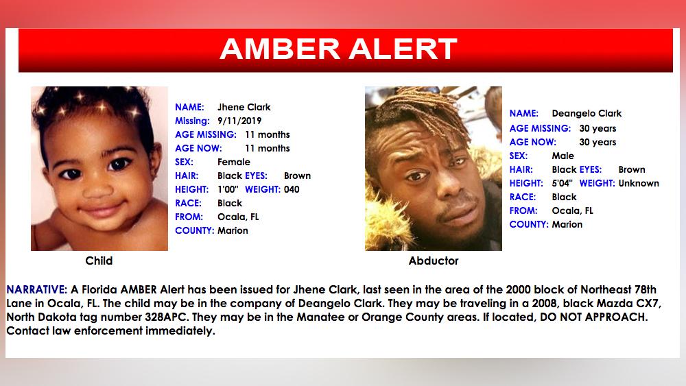 11 Month Old Florida Girl Found Safe After Earlier Amber Alert