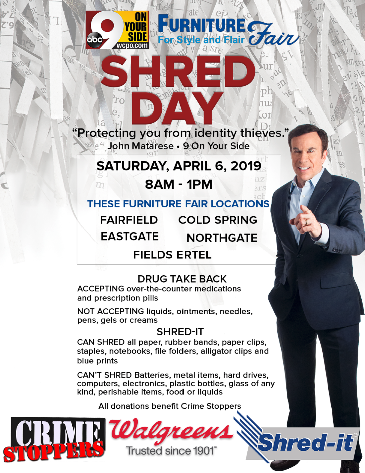 9 On Your Side Shred Day at Furniture Fair is today
