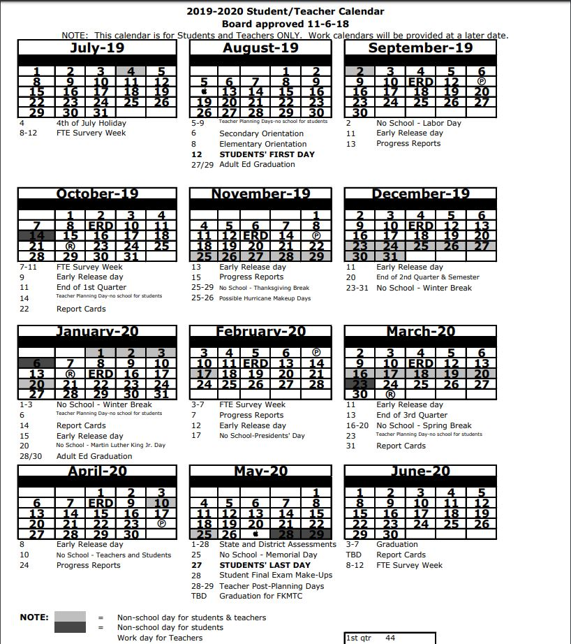 Citrus County School Calendar.Pasco County Schools Implementing Early Release Days During The 2019