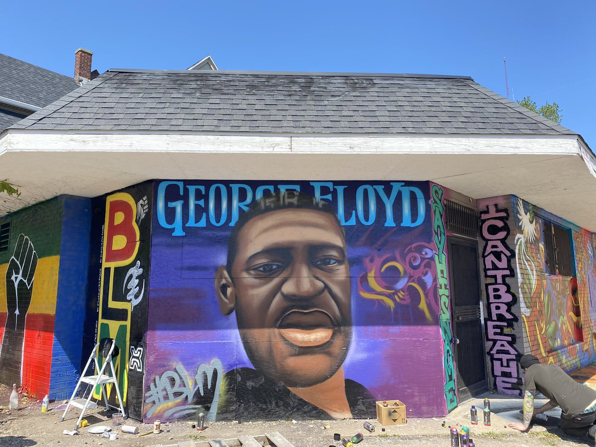 Milwaukee artists come together to paint George Floyd mural to inspire  change