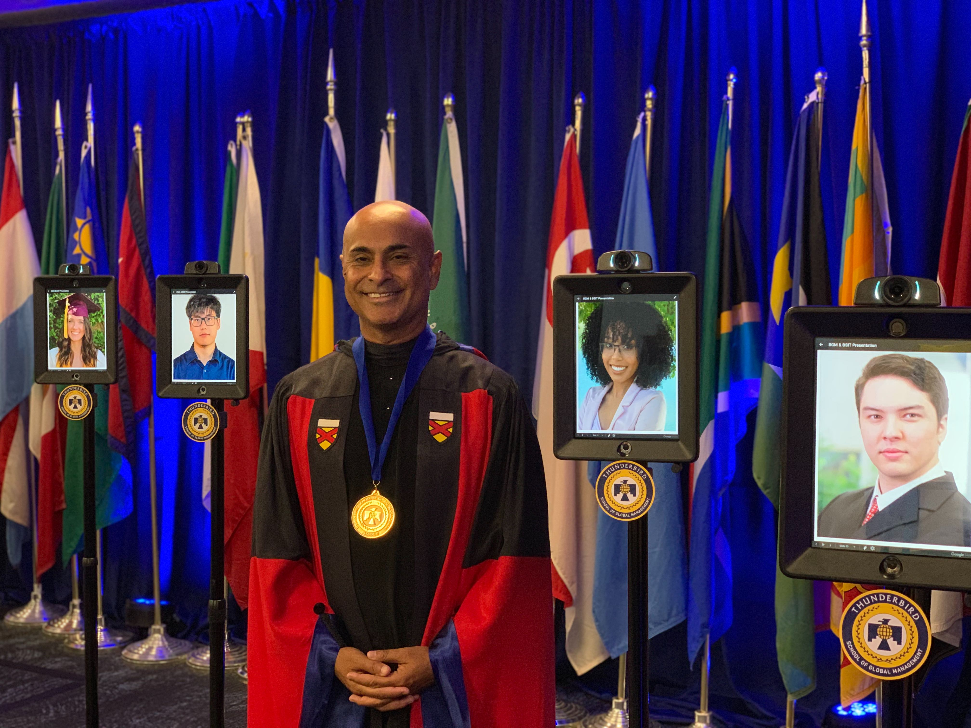ASU Global Management graduates to 'walk' with robots in virtual ceremony