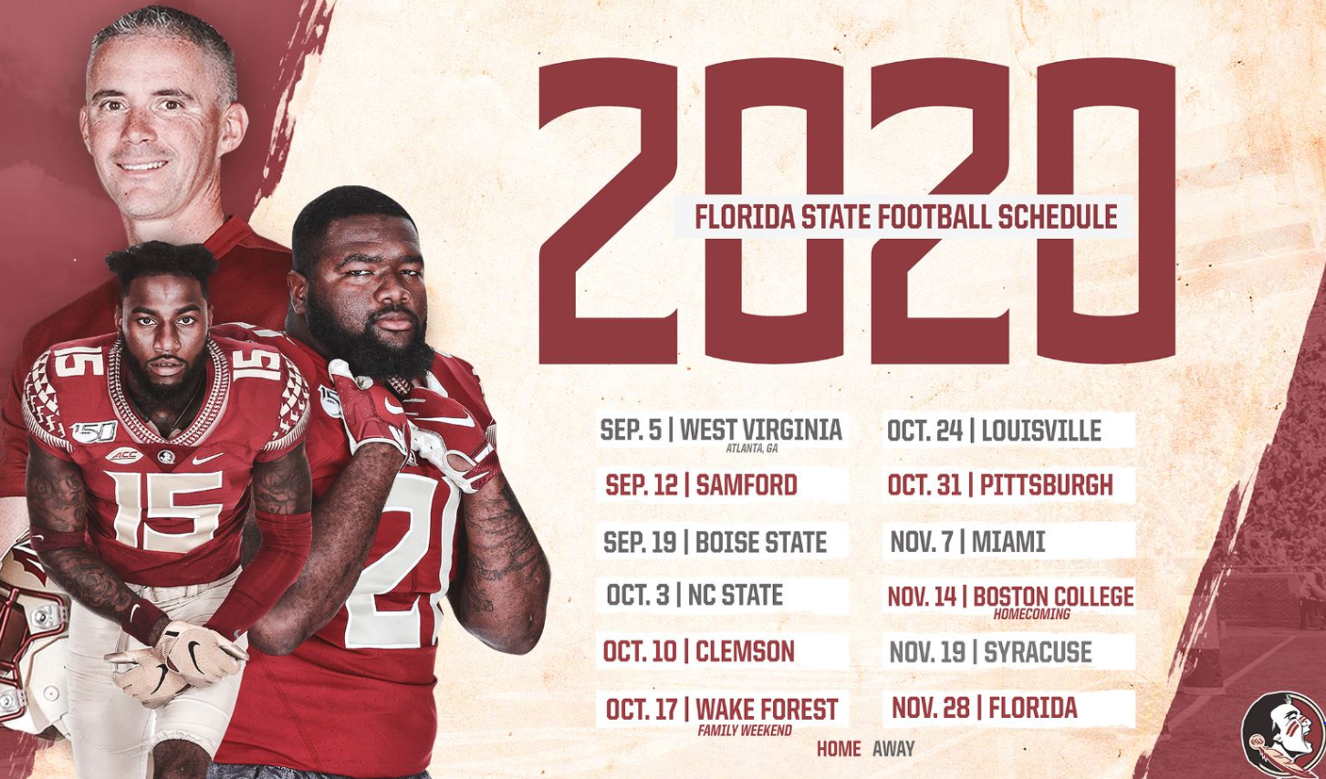 Florida State S 2020 Football Schedule Released