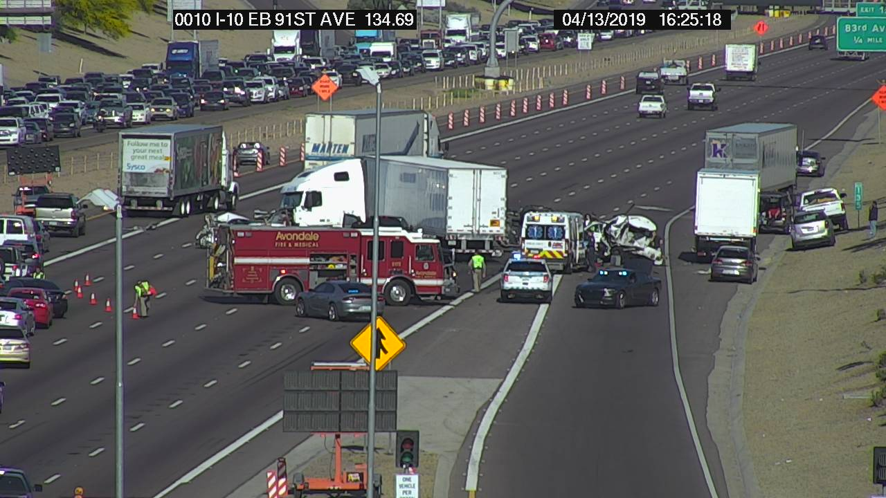 DPS: Several injured in multi-vehicle crash on I-10 near
