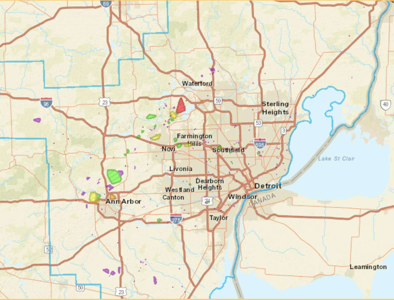 Detroit Edison Power Outage Map View DTE power outage map as 12K remain without power
