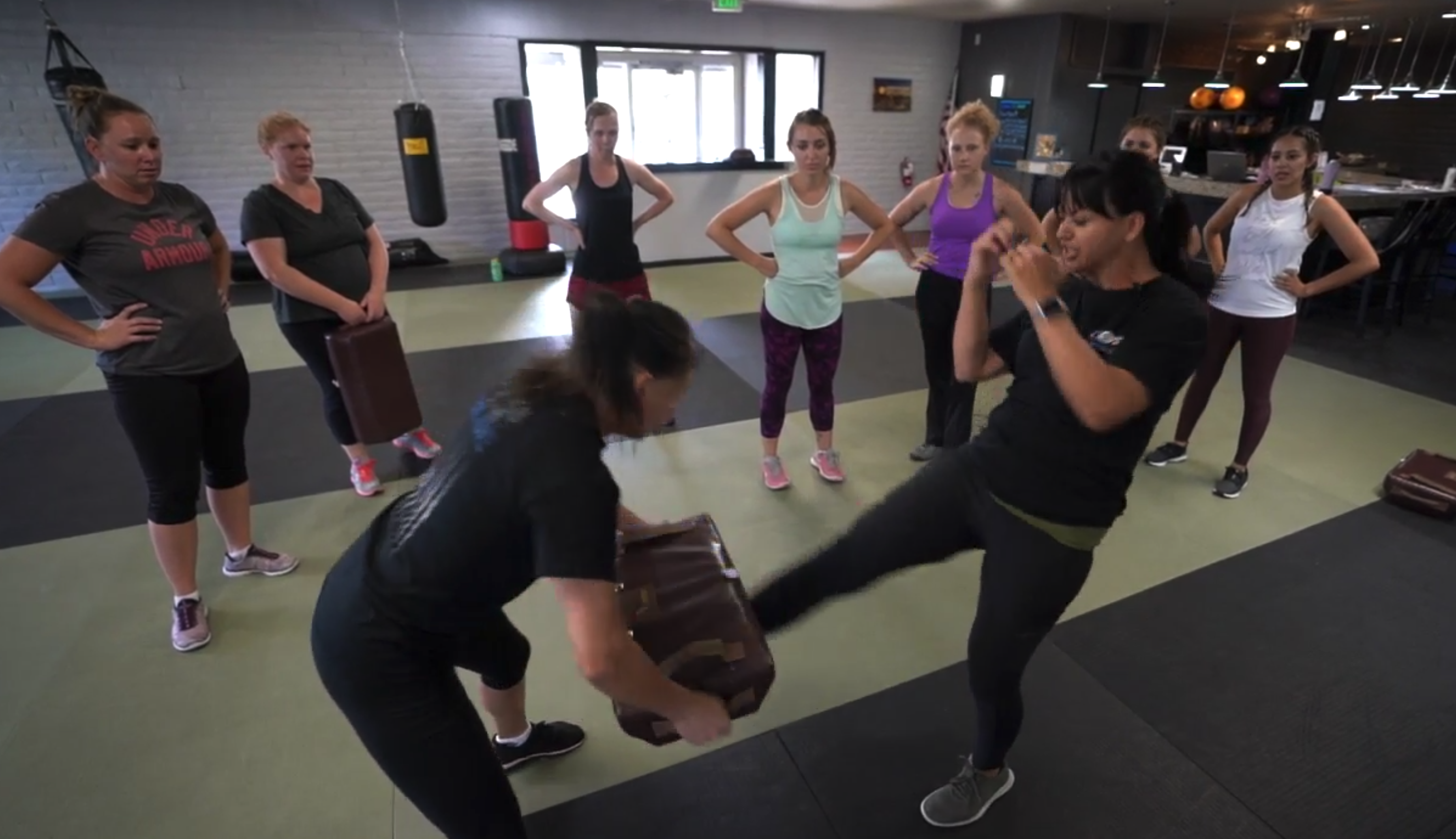 Social workers learn Krav Maga to stay safe in what can be a