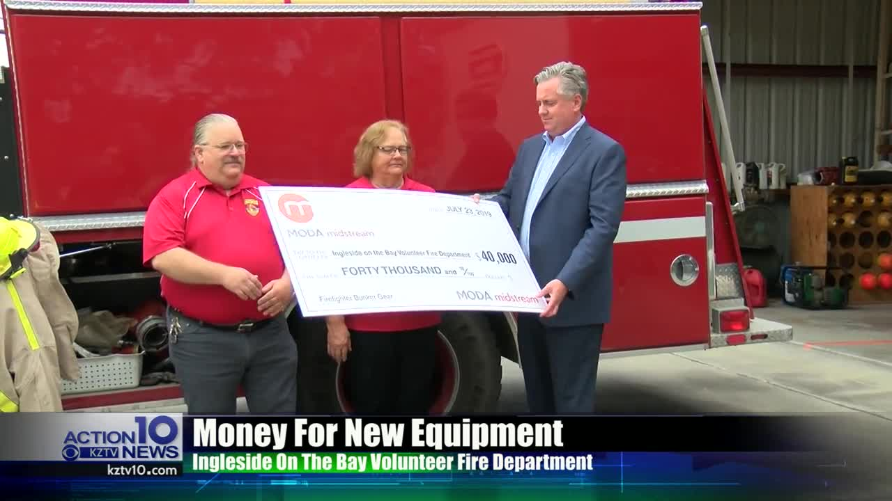 Volunteer Fired Department gets donation from MODA Midstream