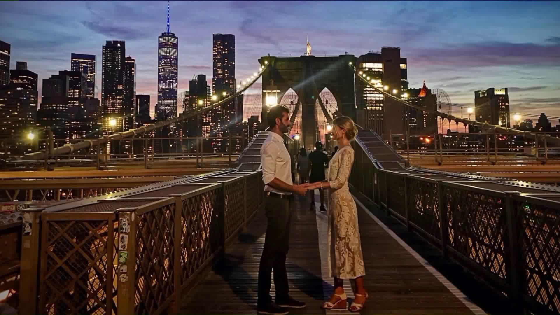 Biker Captures Photos Of Couple Getting Married On Brooklyn Bridge