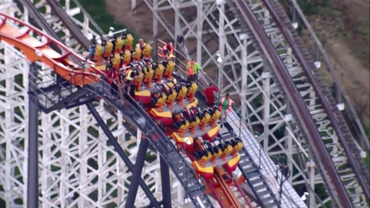 Firebird' roller coaster stuck at Six Flags in Maryland