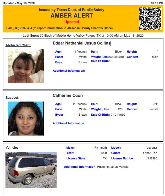 Amber Alert Discontinued For Abducted 14 Month Old Baby