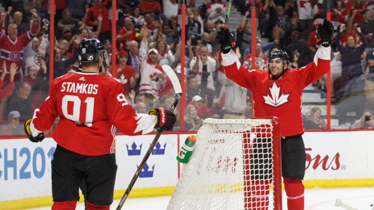 best website 6f4af 3bd66 John Tavares leads Canada to World Cup exhibition win over ...