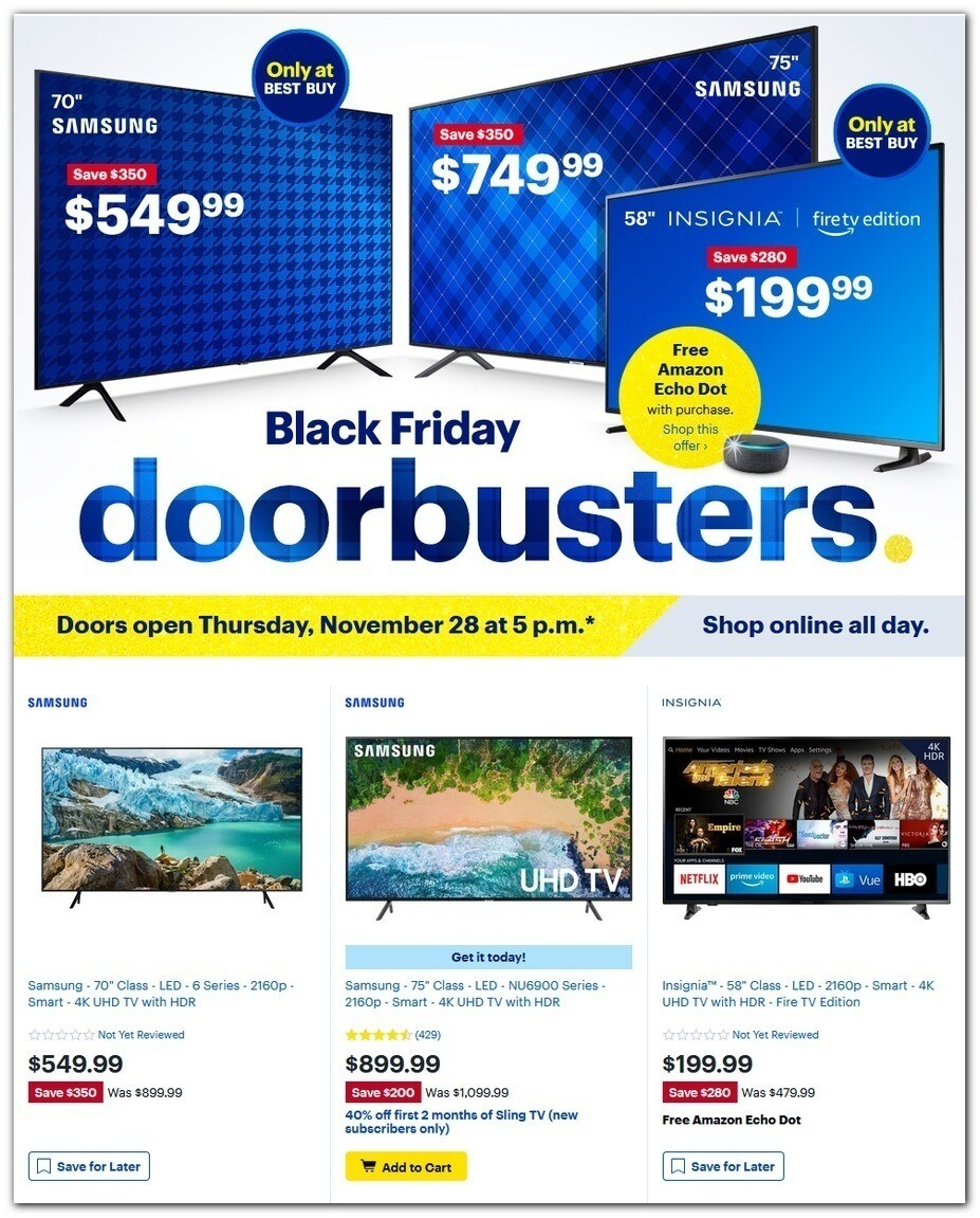 Best Buy 2019 Black Friday ad