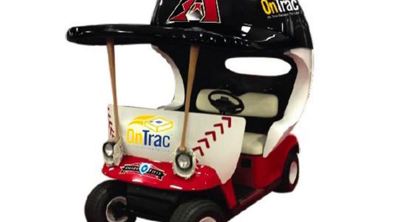 Bullpen cart arrives at Chase Field this season
