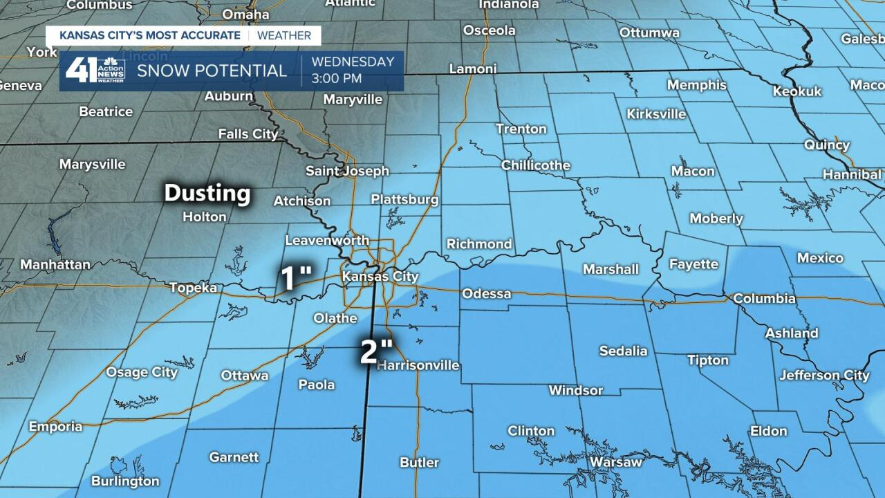 Snow Potential By Noon Wednesday