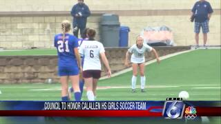 Calallen girls soccer team honored by City Council