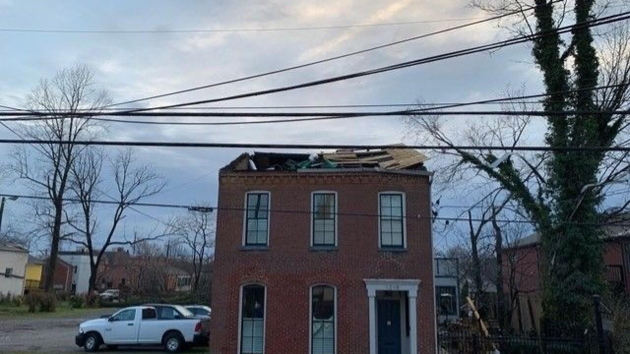 Germantown Inn tornado damage