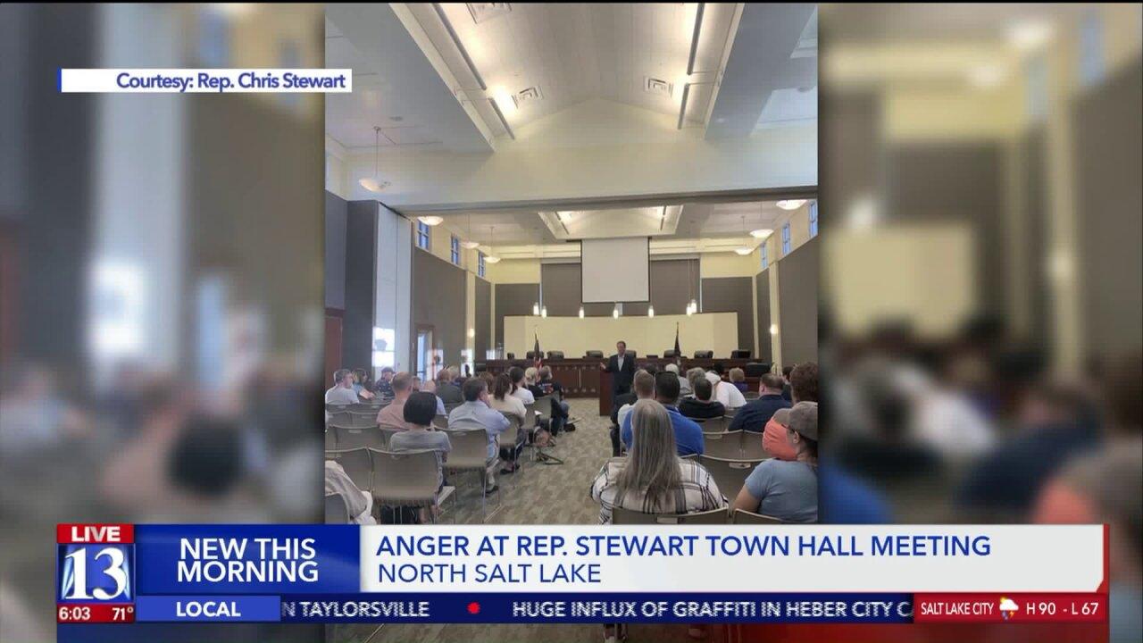 Rep. Chris Stewart Town Hall meeting gets heated; Congressman threatens to walkout
