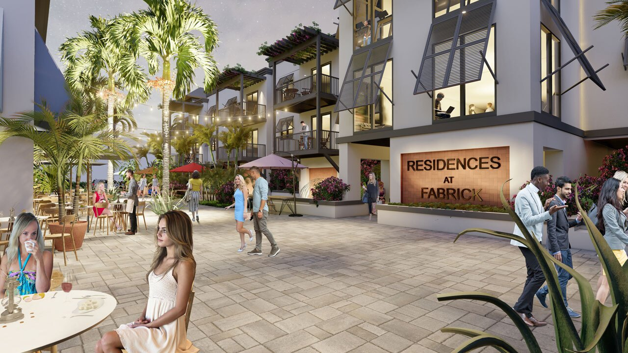 Artist renderings of a new mixed-use development planned for the 600-800 block of West Atlantic Avenue in Delray Beach.