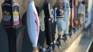 Beer taps at Whitnall Park
