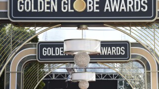 Golden Globe Awards sign in 2020