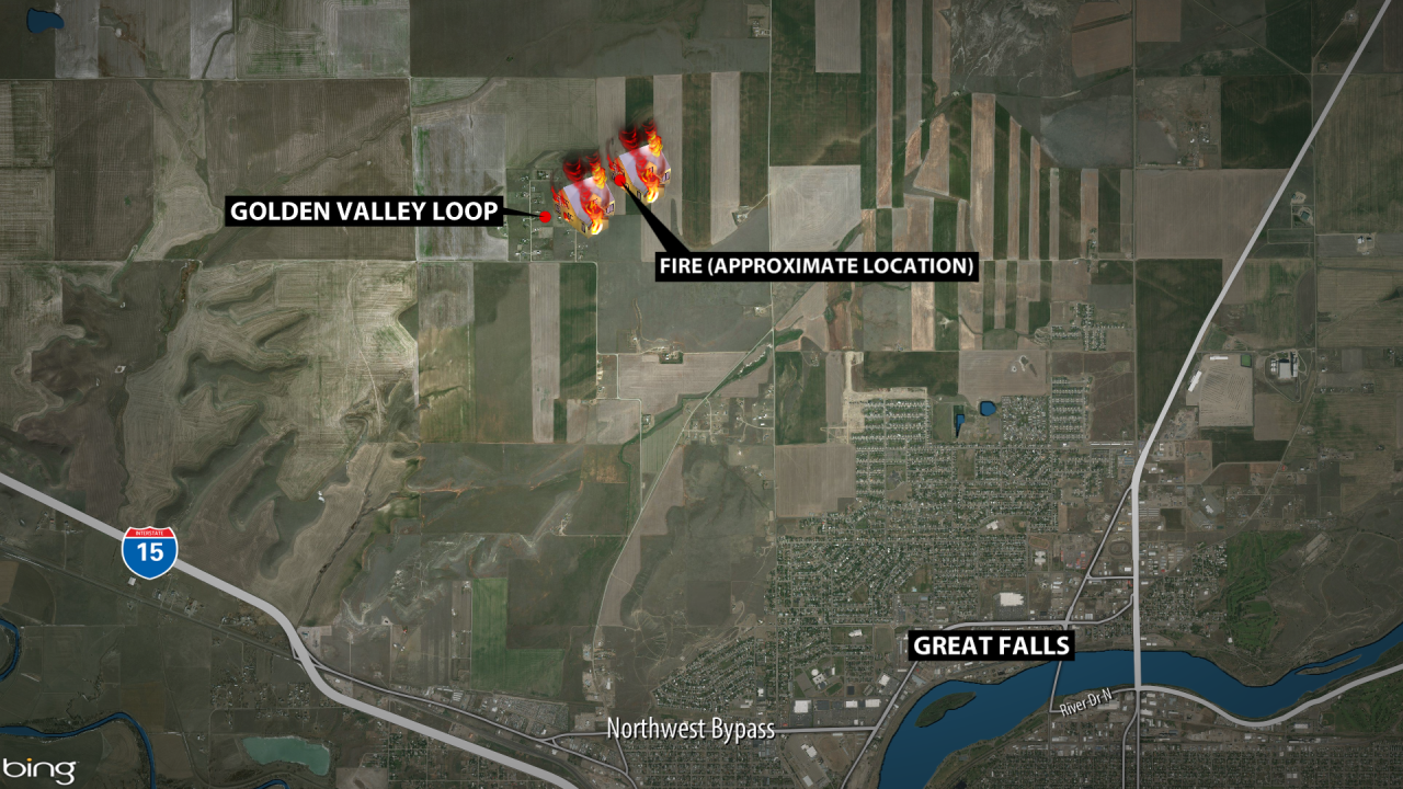 The fire was near Stuckey/Vinyard roads and Golden Valley Loop