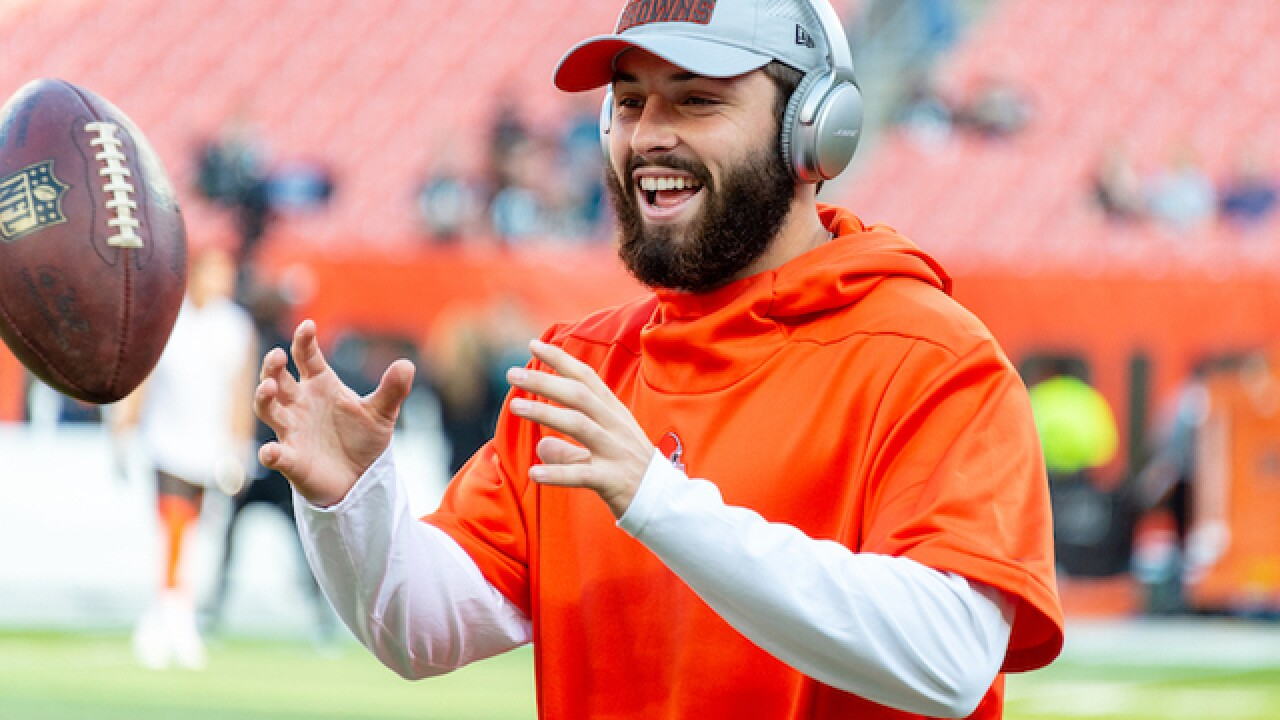 The future is here (for one game, at least): Baker Mayfield will start tonight against the Lions