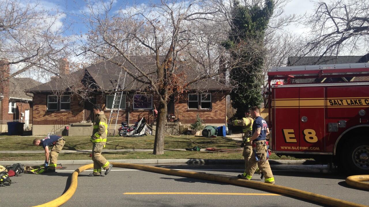 Man critically injured, dog killed in Salt Lake housefire