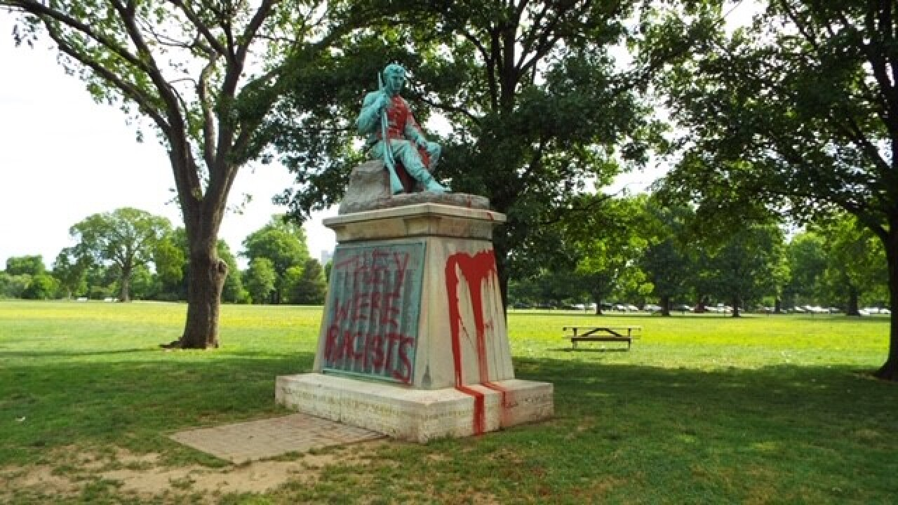 Confederate monument vandalized in Nashville's Centennial Park