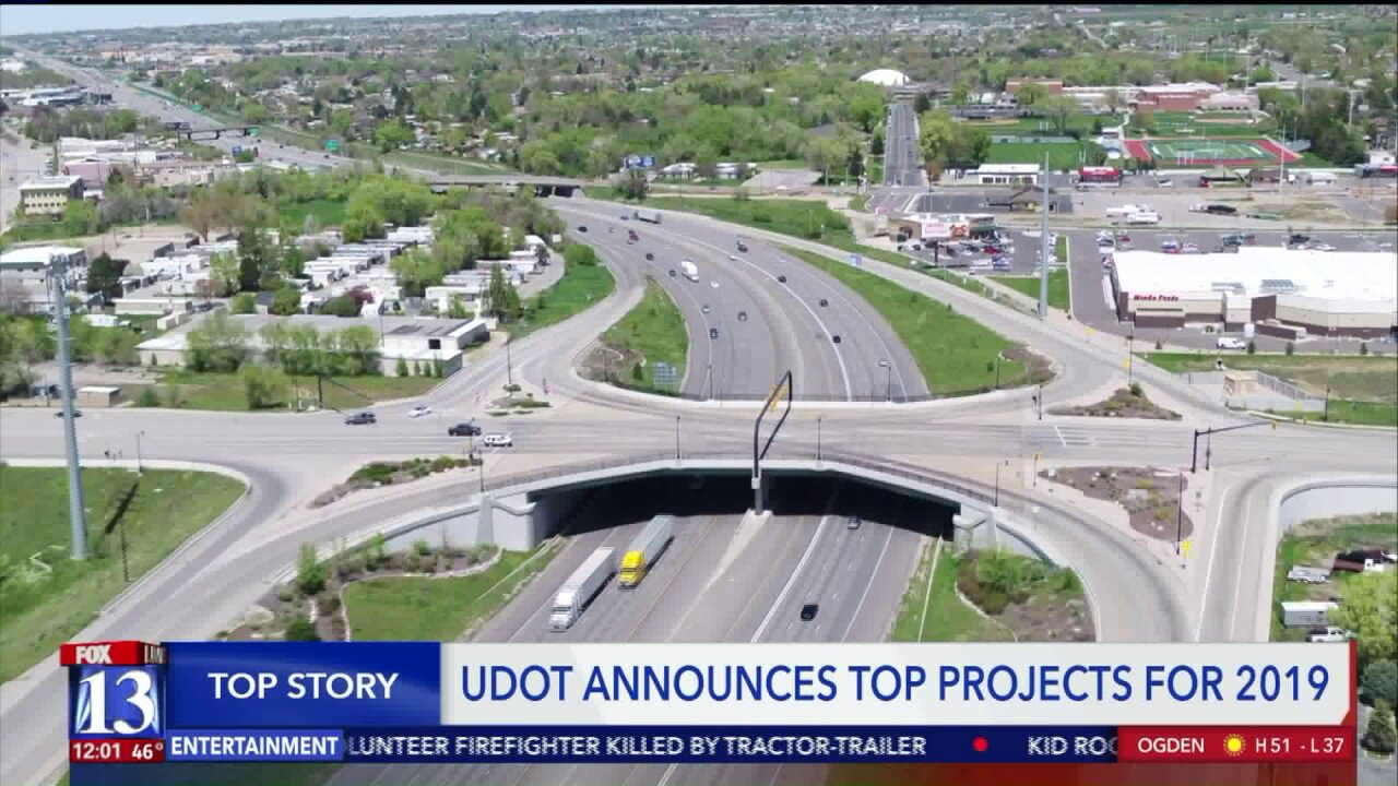 UDOT unveils top 10 road construction projects for2019