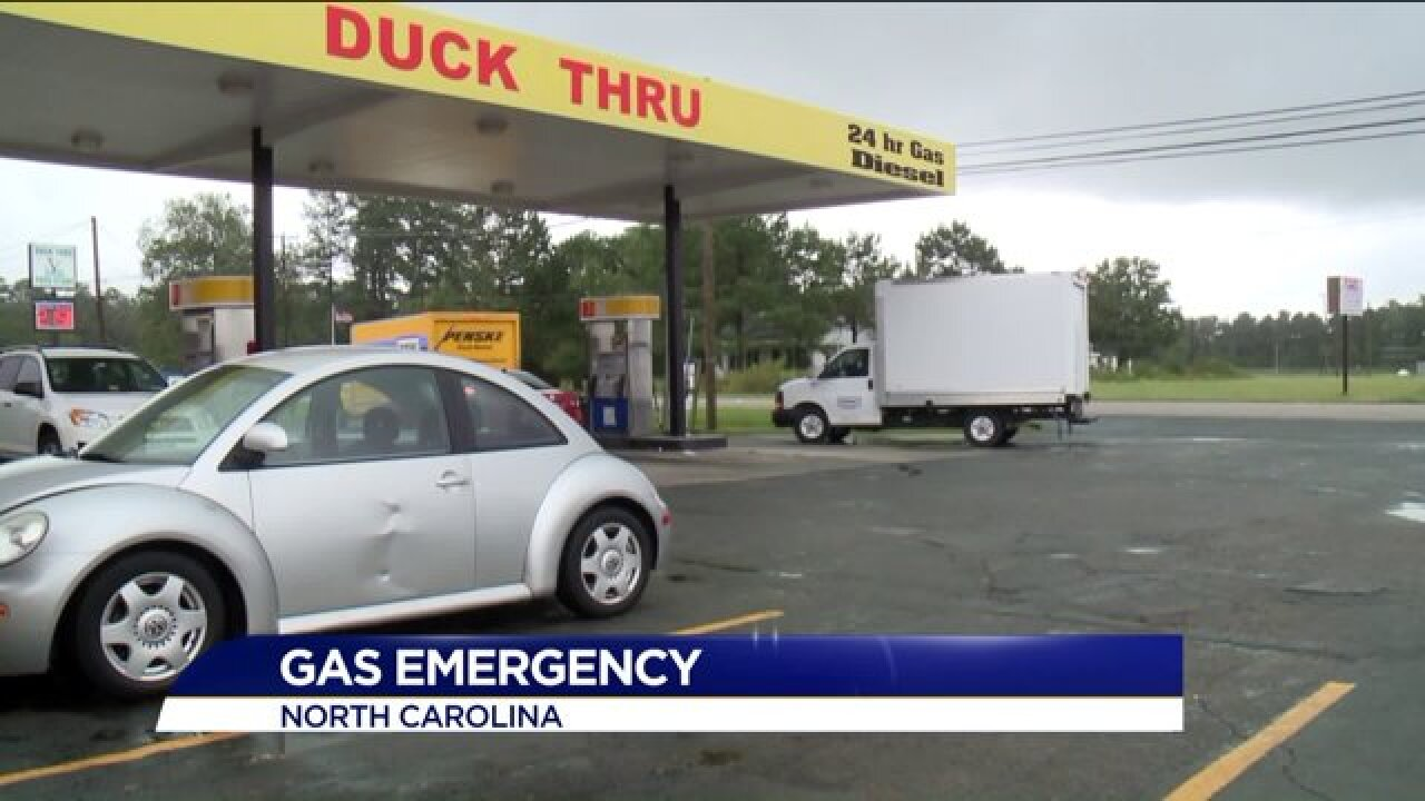 North Carolina gas stations experience gas shortage, long lines, and high prices