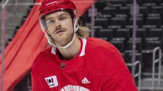 Jon Merrill 2021 NHL Training Camp at LCA