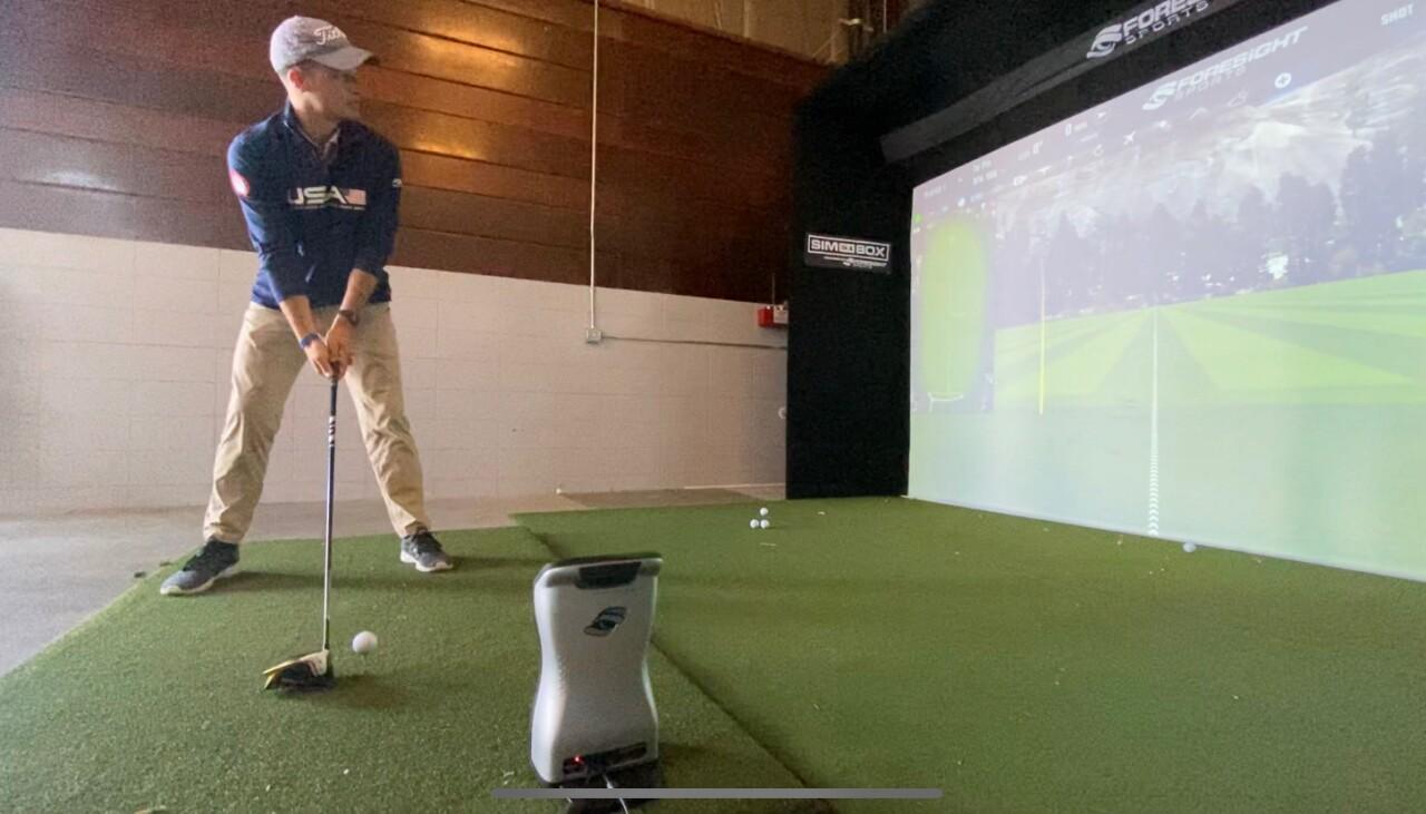 Golf simulator and 3 Sheep Brewing Co.