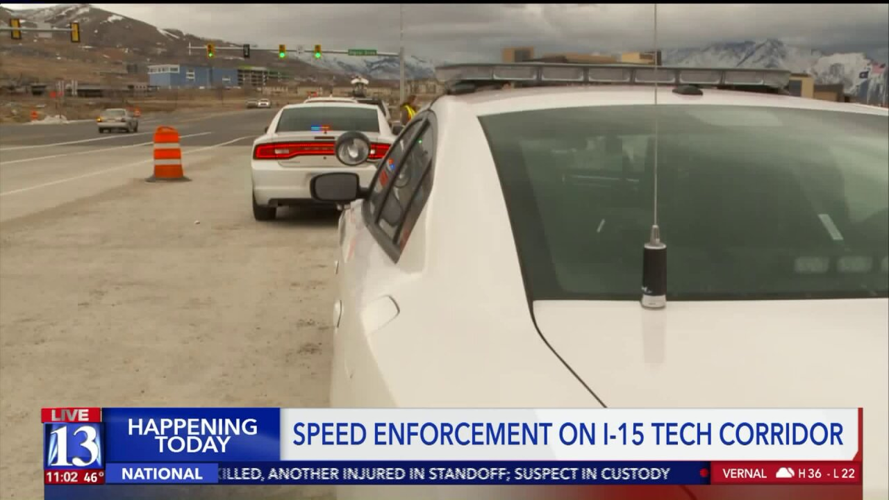 UHP steps up enforcement, says too many drivers speed through construction zone on I-15 inLehi