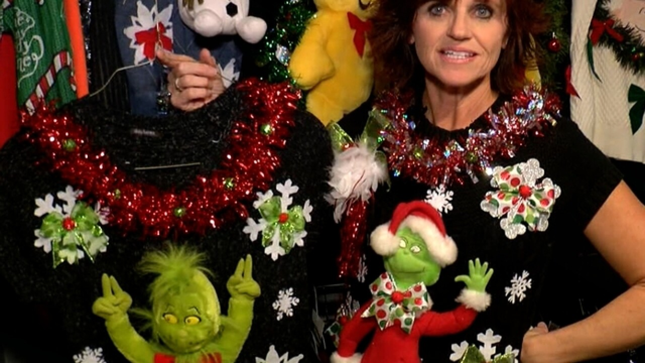 Single mom in Florida gains worldwide buzz for 'ugly, tacky' Christmas sweaters